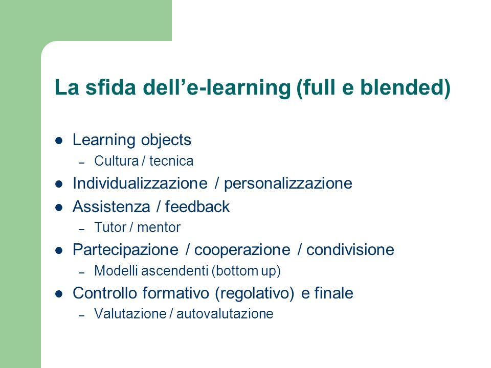 La sfida dell'e-learning (full e blended)