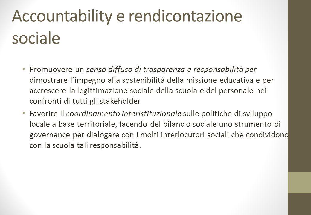 Accountability e rendicontazione sociale