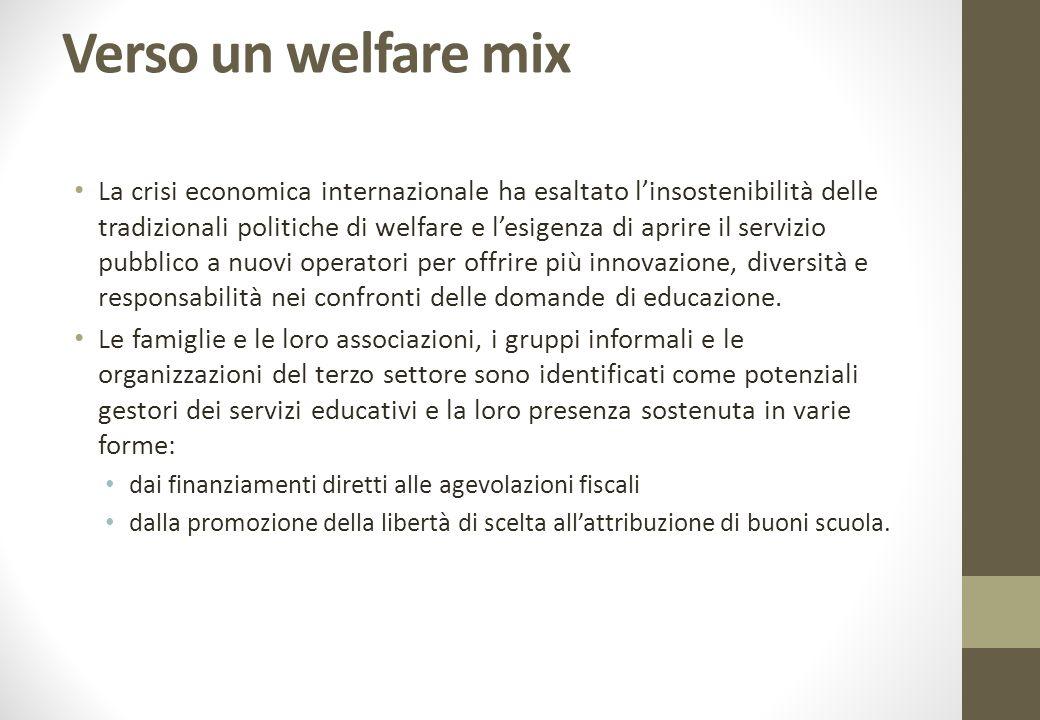 Verso un welfare mix