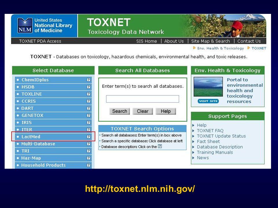http://toxnet.nlm.nih.gov/