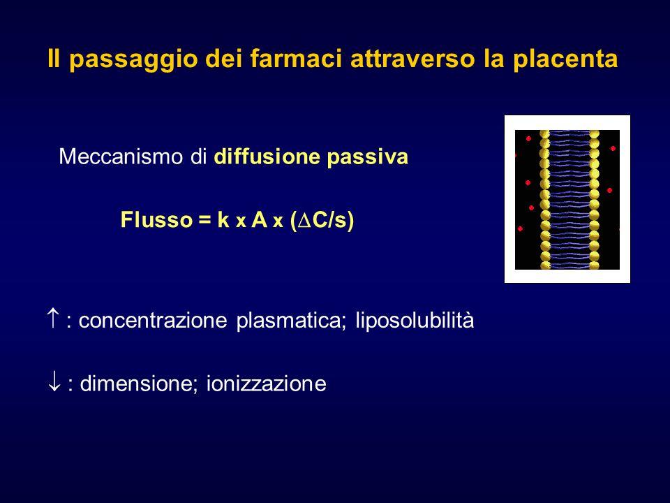 Il passaggio dei farmaci attraverso la placenta