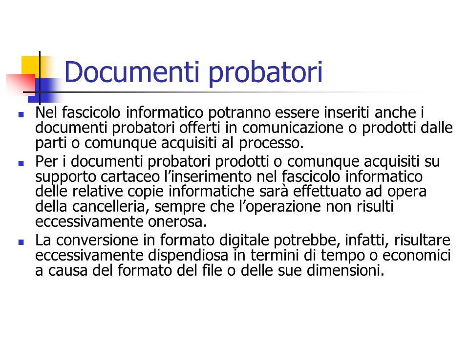 Documenti probatori