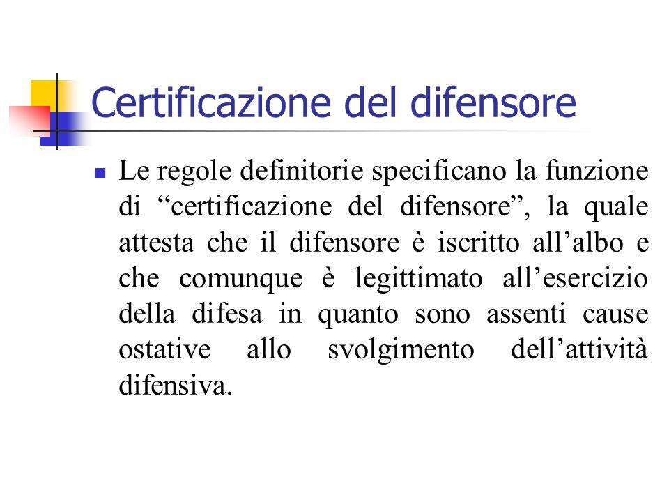 Certificazione del difensore