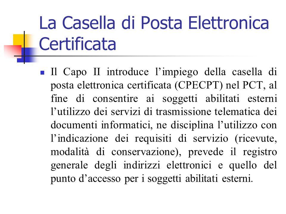 La Casella di Posta Elettronica Certificata