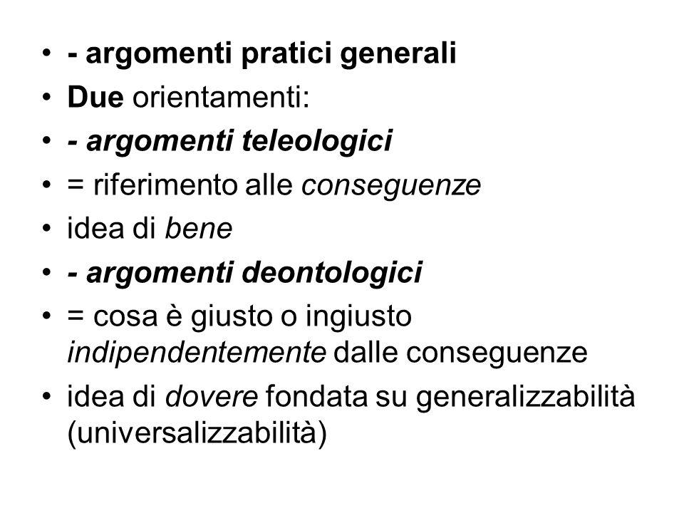 - argomenti pratici generali