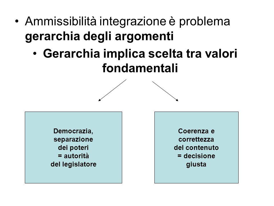 Gerarchia implica scelta tra valori fondamentali