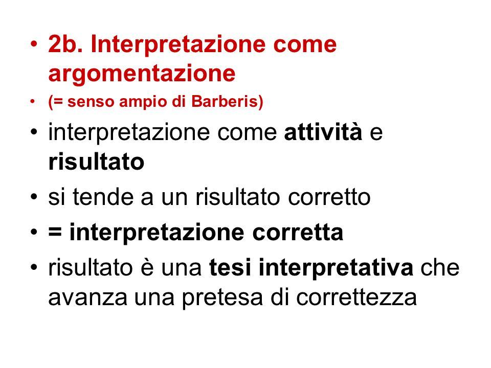 2b. Interpretazione come argomentazione