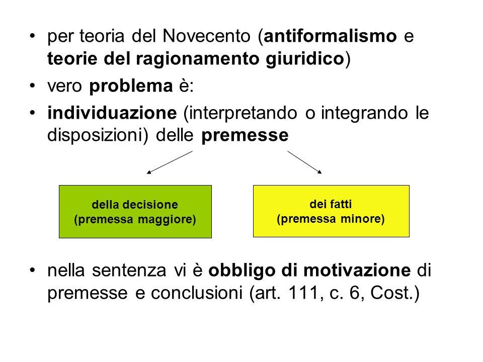 per teoria del Novecento (antiformalismo e teorie del ragionamento giuridico)
