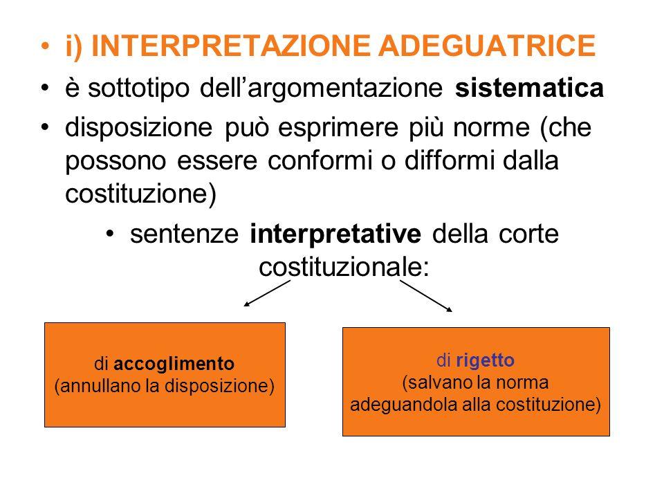 i) INTERPRETAZIONE ADEGUATRICE