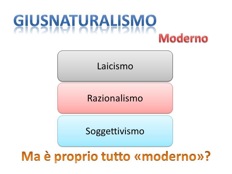 Ma è proprio tutto «moderno»