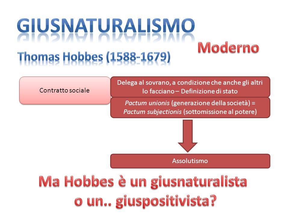 Ma Hobbes è un giusnaturalista