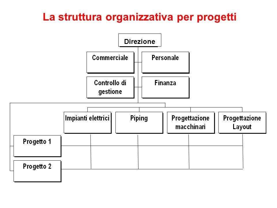 La struttura organizzativa per progetti