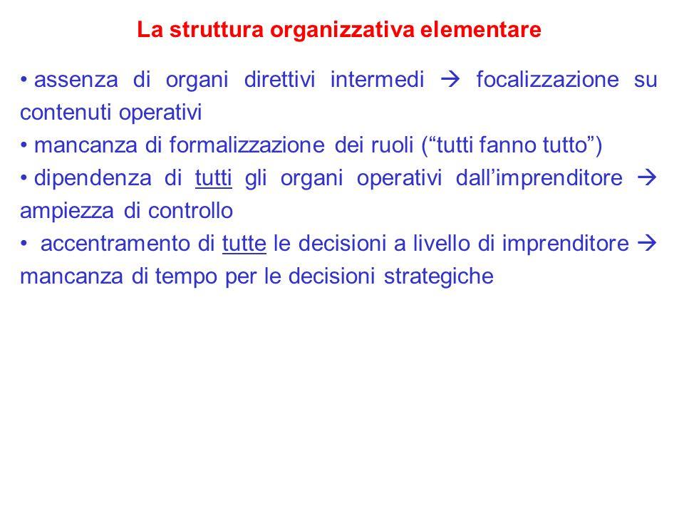La struttura organizzativa elementare
