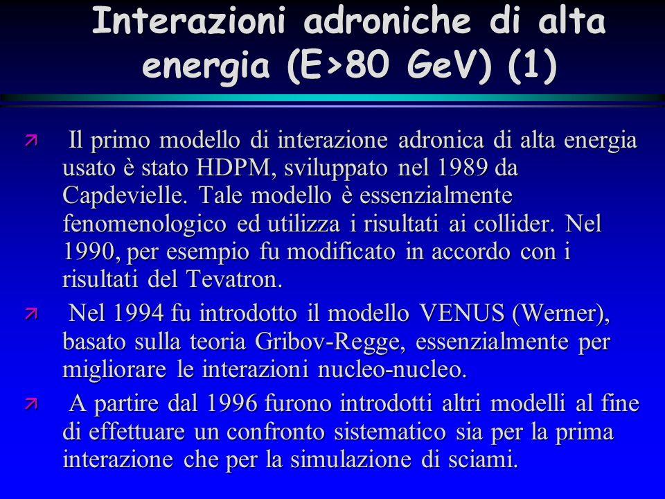 Interazioni adroniche di alta energia (E>80 GeV) (1)
