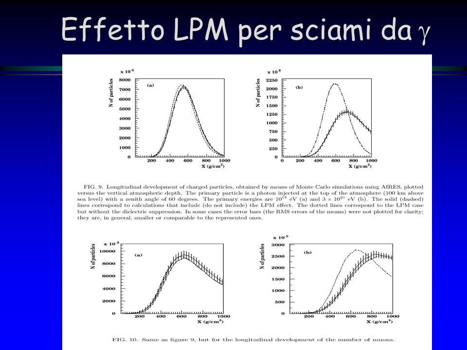 Effetto LPM per sciami da g