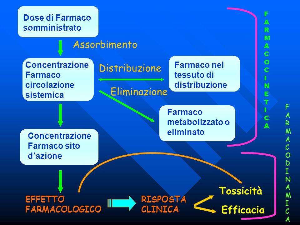 Assorbimento Distribuzione Eliminazione Tossicità Efficacia