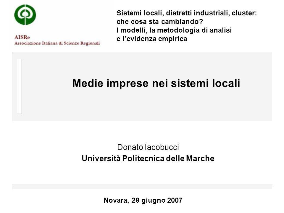 Medie imprese nei sistemi locali