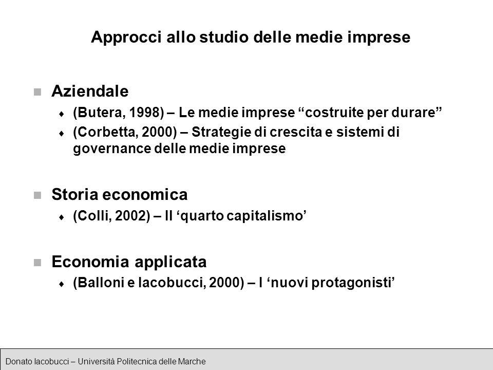 Approcci allo studio delle medie imprese