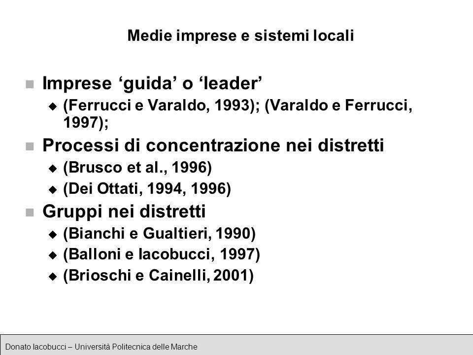 Medie imprese e sistemi locali