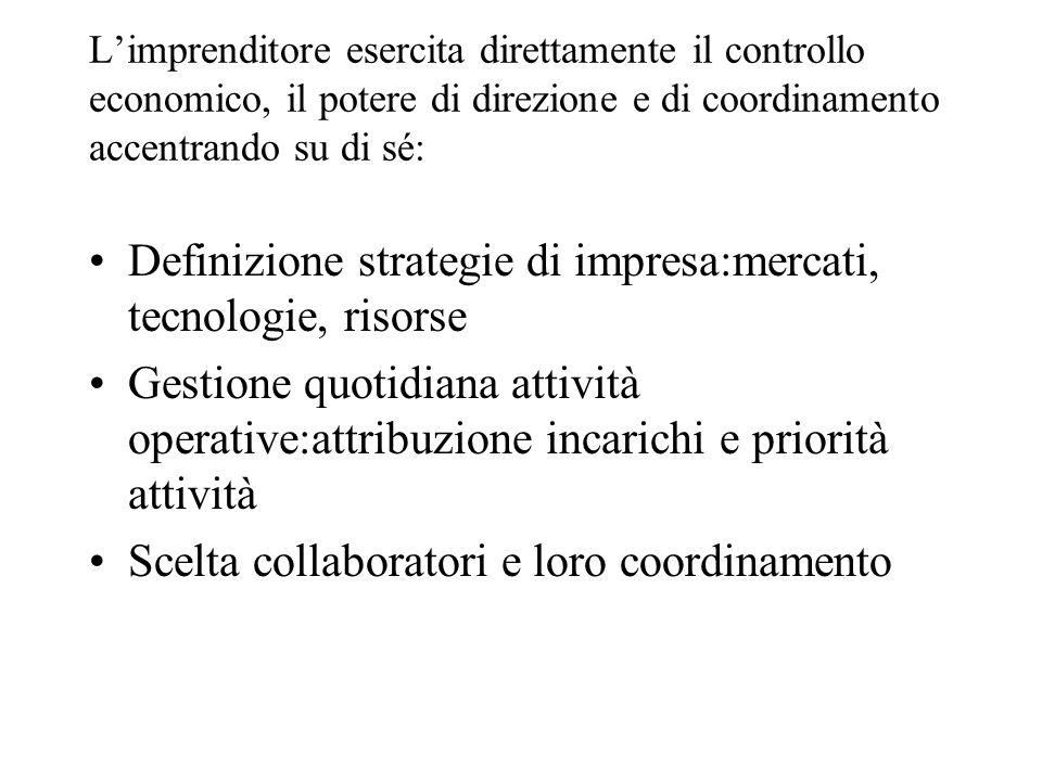 Definizione strategie di impresa:mercati, tecnologie, risorse