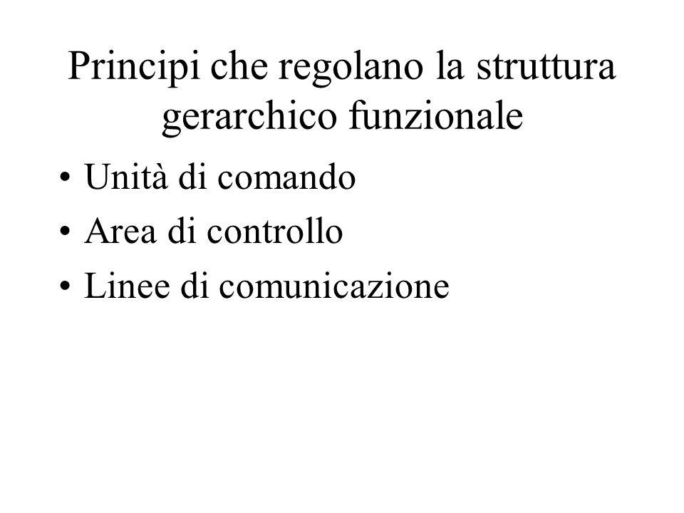 Principi che regolano la struttura gerarchico funzionale