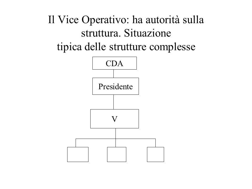 Il Vice Operativo: ha autorità sulla struttura