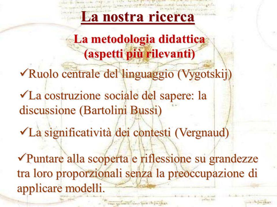 La metodologia didattica (aspetti più rilevanti)