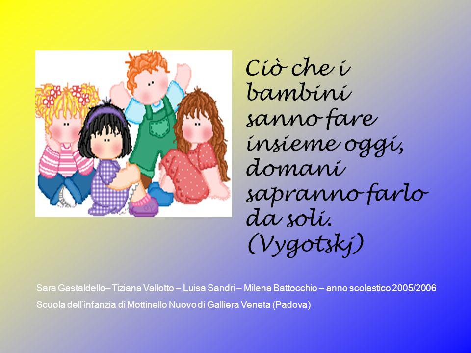 Ciò che i bambini sanno fare insieme oggi, domani sapranno farlo da soli. (Vygotskj)