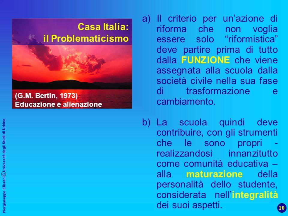 Casa Italia: il Problematicismo