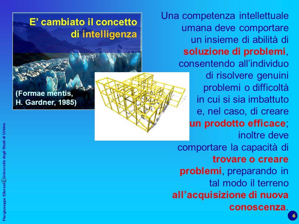 E' cambiato il concetto di intelligenza