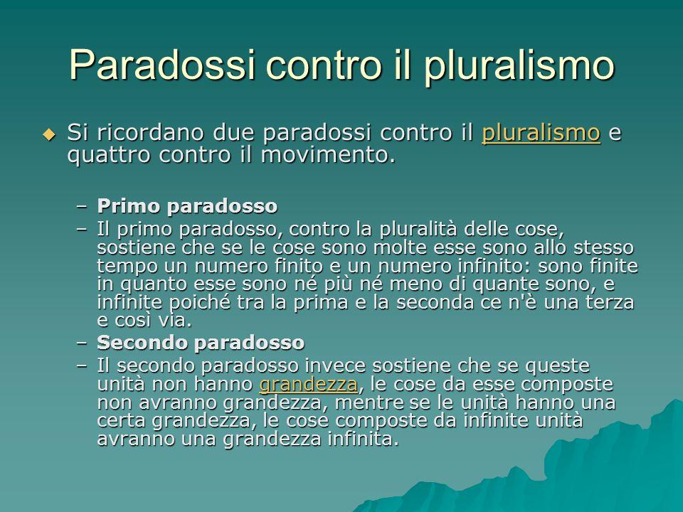 Paradossi contro il pluralismo