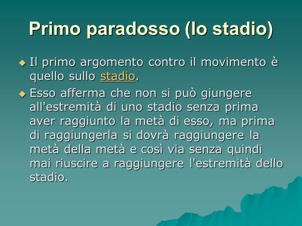 Primo paradosso (lo stadio)