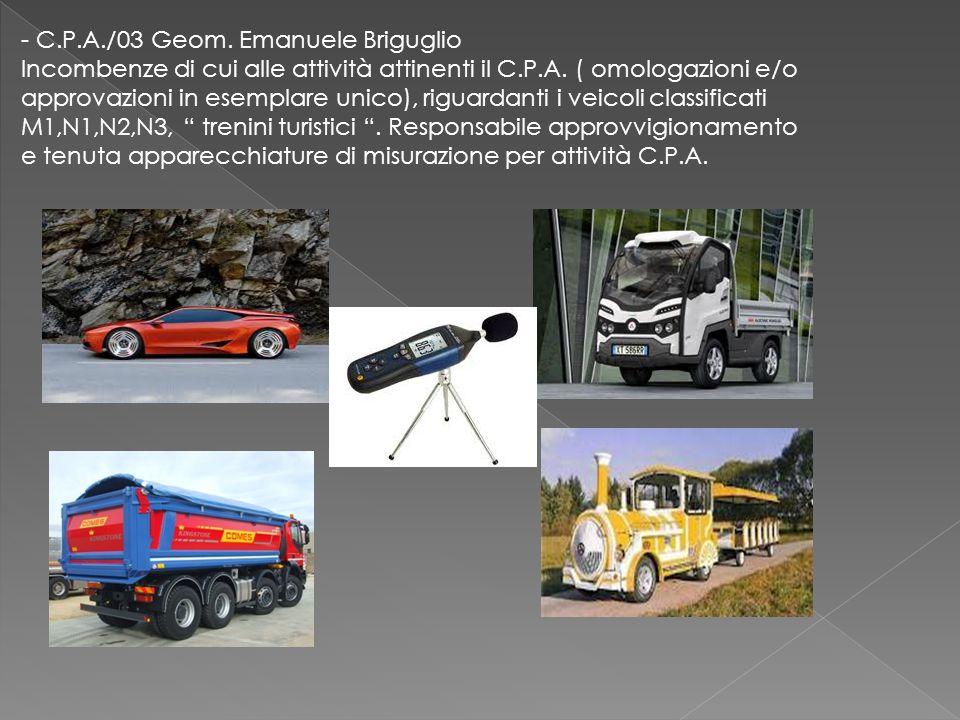 - C.P.A./03 Geom. Emanuele Briguglio