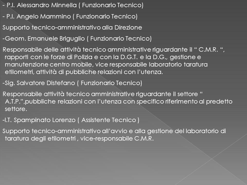 P.I. Alessandro Minnella ( Funzionario Tecnico)