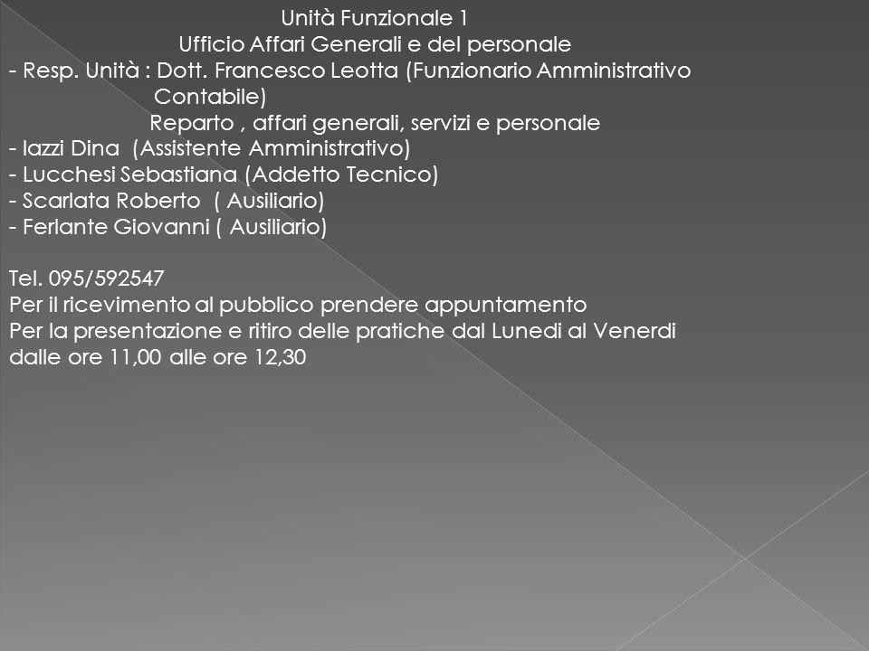 Ufficio Affari Generali e del personale