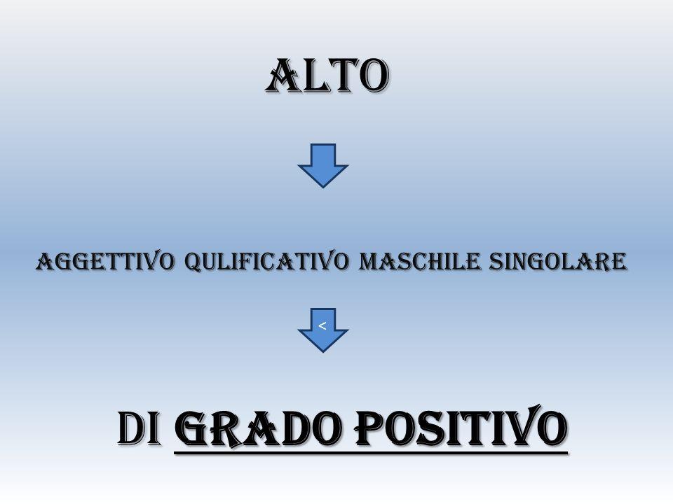 AGGETTIVO QULIFICATIVO maschile SINGOLARE