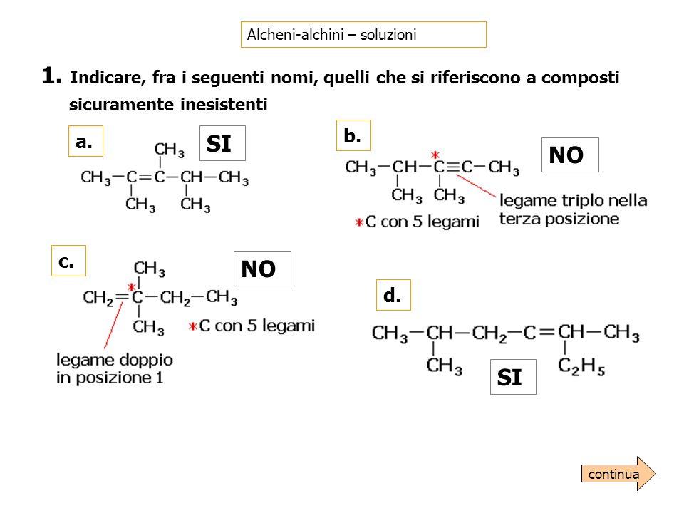 Alcheni-alchini – soluzioni