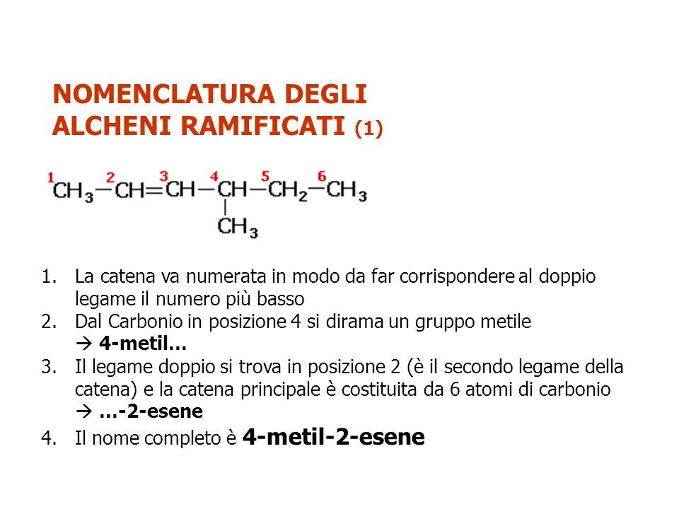 NOMENCLATURA DEGLI ALCHENI RAMIFICATI (1)