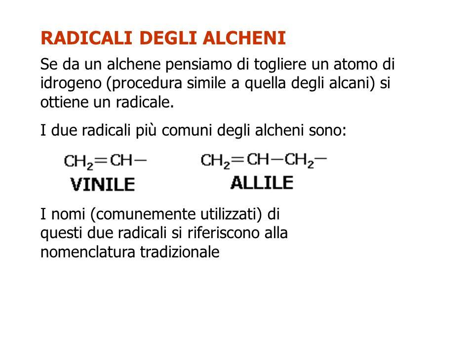 RADICALI DEGLI ALCHENI