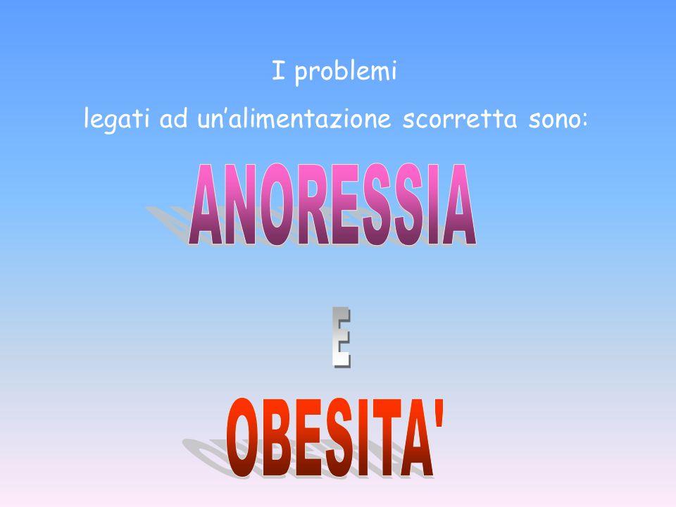 ANORESSIA E OBESITA I problemi