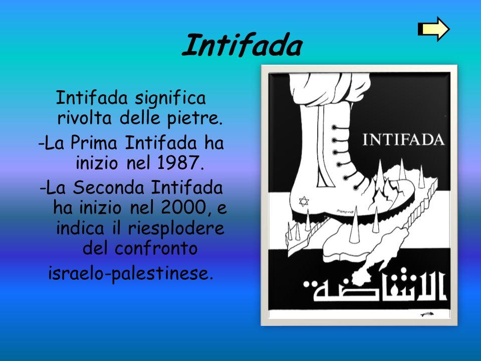 Intifada Intifada significa rivolta delle pietre.