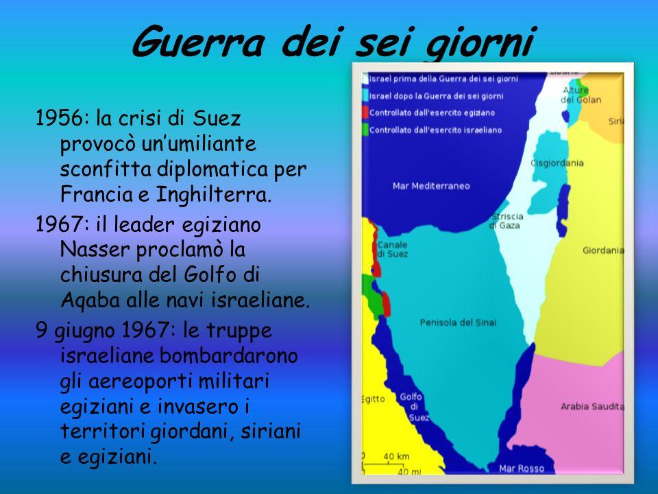Guerra dei sei giorni 1956: la crisi di Suez provocò un'umiliante sconfitta diplomatica per Francia e Inghilterra.