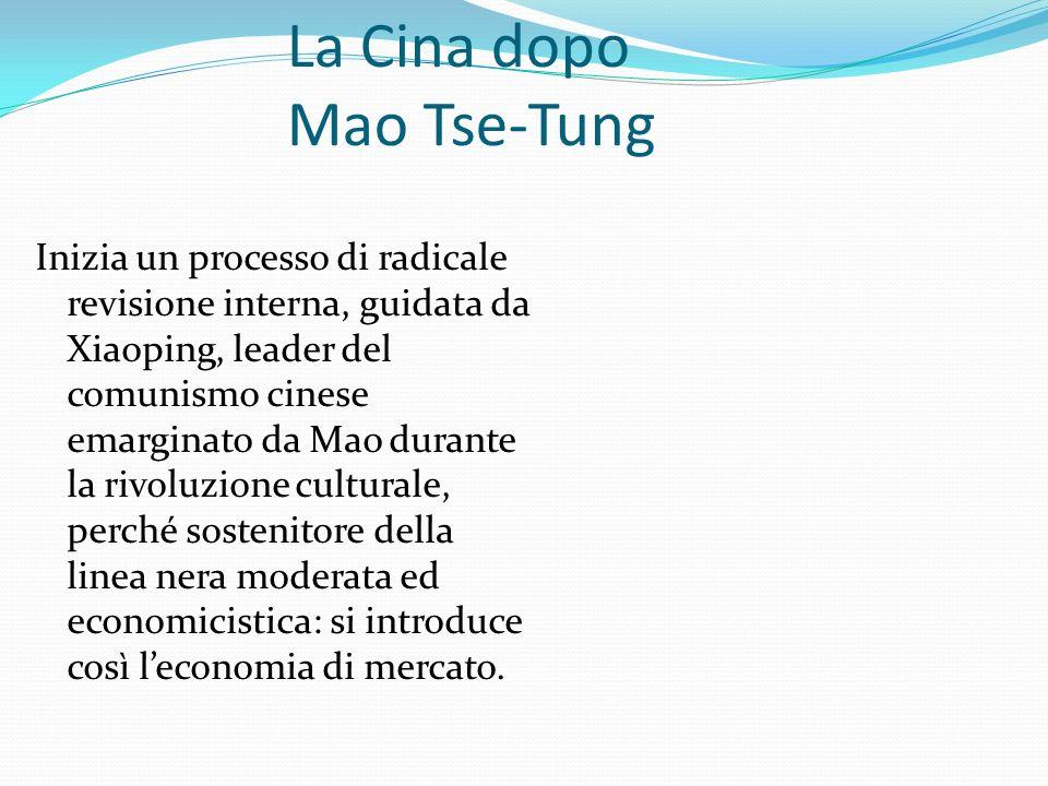 La Cina dopo Mao Tse-Tung