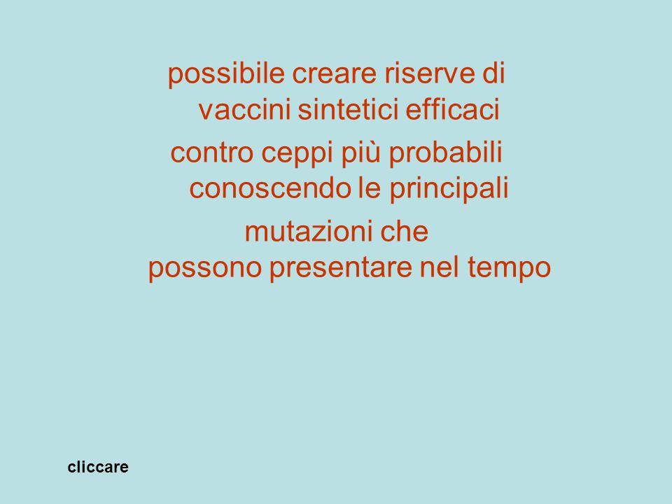 possibile creare riserve di vaccini sintetici efficaci