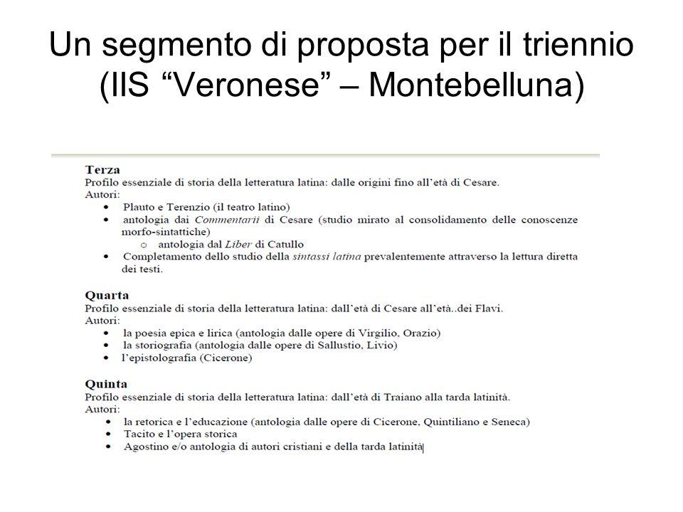 Un segmento di proposta per il triennio (IIS Veronese – Montebelluna)