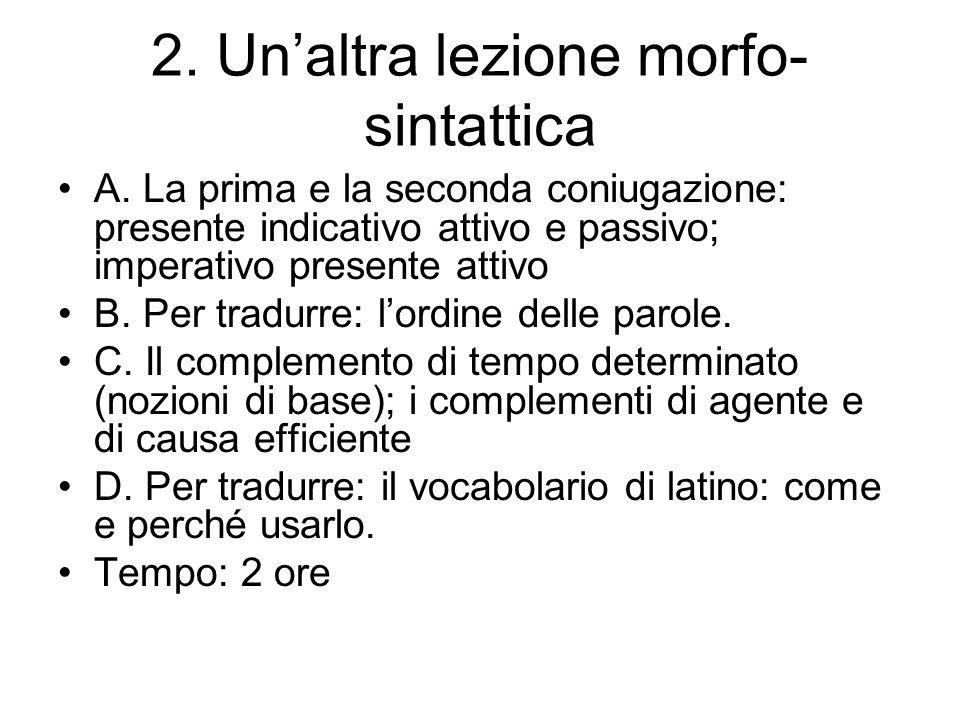 2. Un'altra lezione morfo-sintattica
