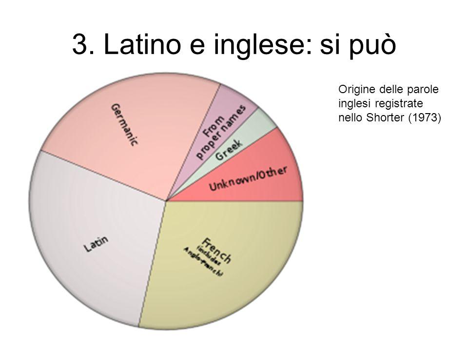 3. Latino e inglese: si può