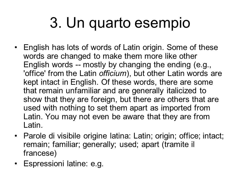 3. Un quarto esempio