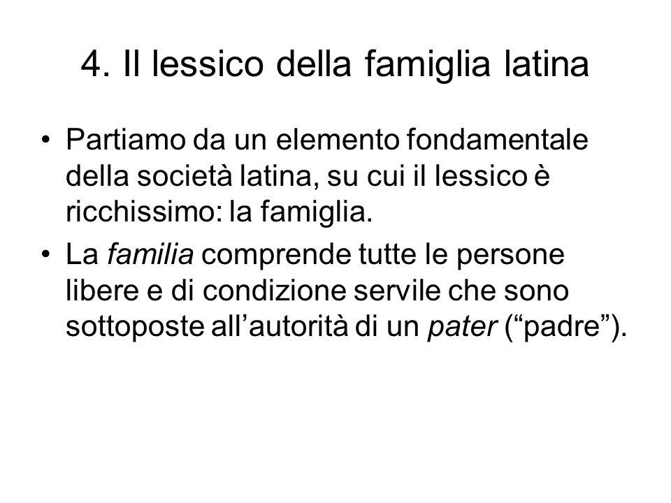 4. Il lessico della famiglia latina