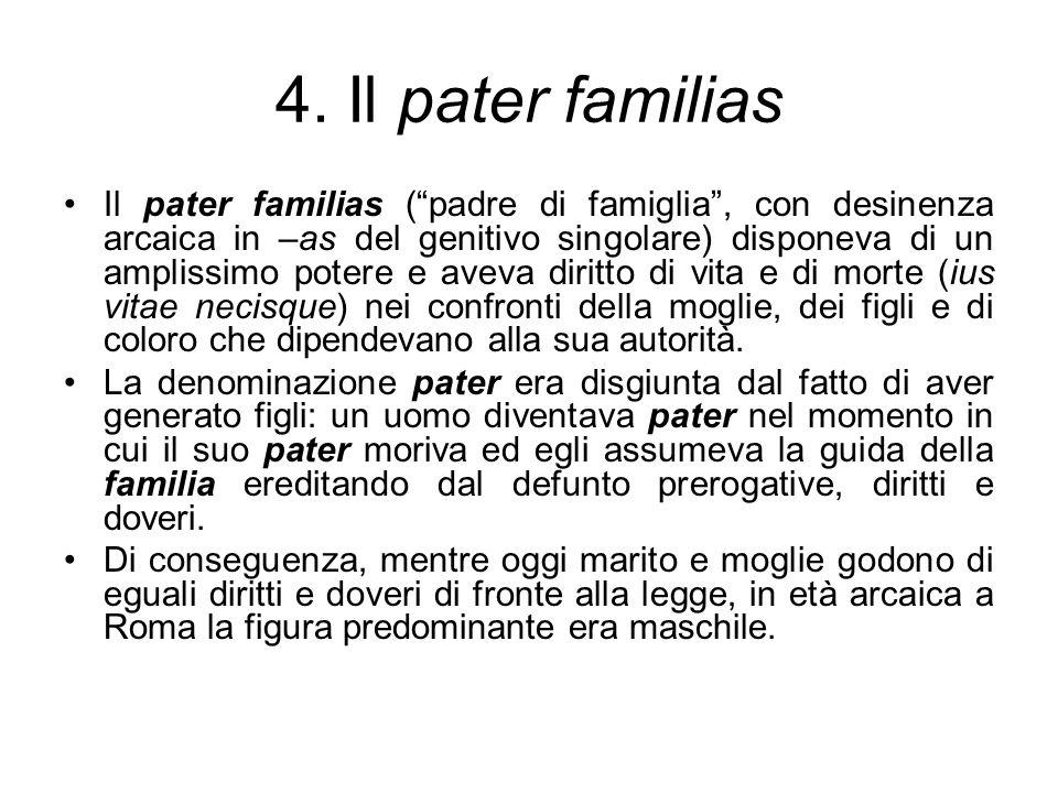 4. Il pater familias